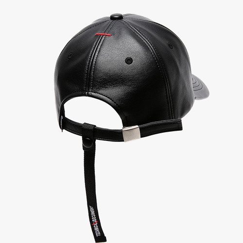 TD LEATHER STRAP CAP (BLACK)