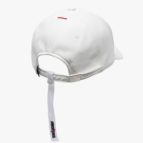 TD LEATHER STRAP CAP (WHITE)