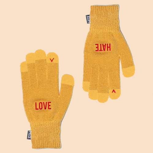 [착한장갑] LOVE HATE SMART GLOVE (MUSTARD)