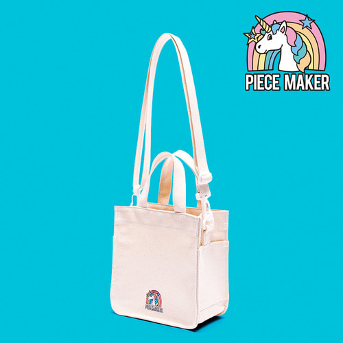 CANVAS UNICORN MINI BAG (WHITE)