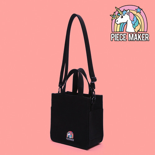 CANVAS UNICORN MINI BAG (BLACK)