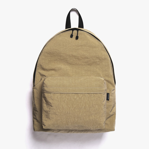 SHIRRING NYLON BACKPACK (BEIGE)