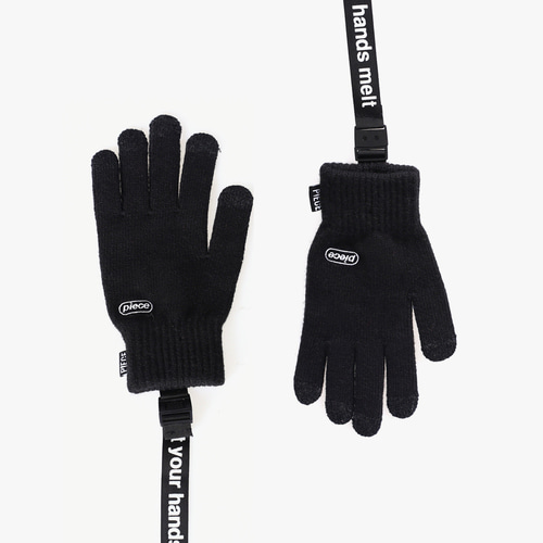 ★선물 박스★ICON STRAP SMART GLOVES (BLACK)