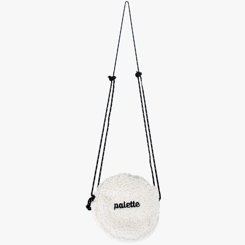 FLEECE CIRCLE BAG (WHITE)