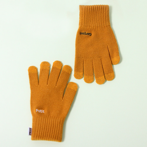 PETIT GARCON SMART GLOVES (MUSTARD)