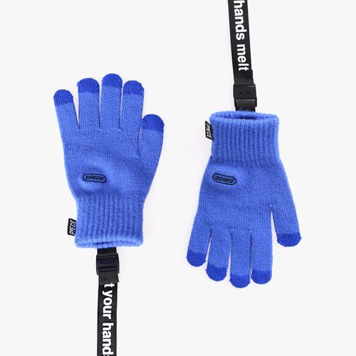 ★선물 박스★ICON STRAP SMART GLOVES (BLUE)