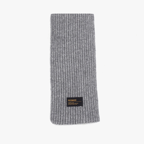 LAMBSWOOL 100 KNIT MUFFLER (GREY)