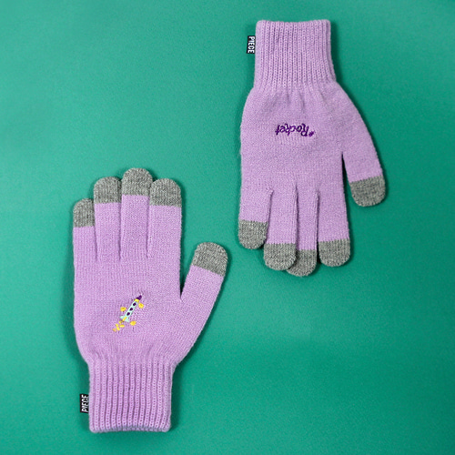 ★선물 박스★SPACE UNIT SMART GLOVES (PURPLE)