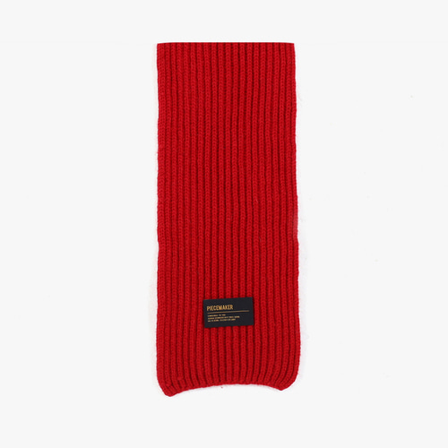 ★선물 박스★LAMBSWOOL 100 KNIT MUFFLER (RED)