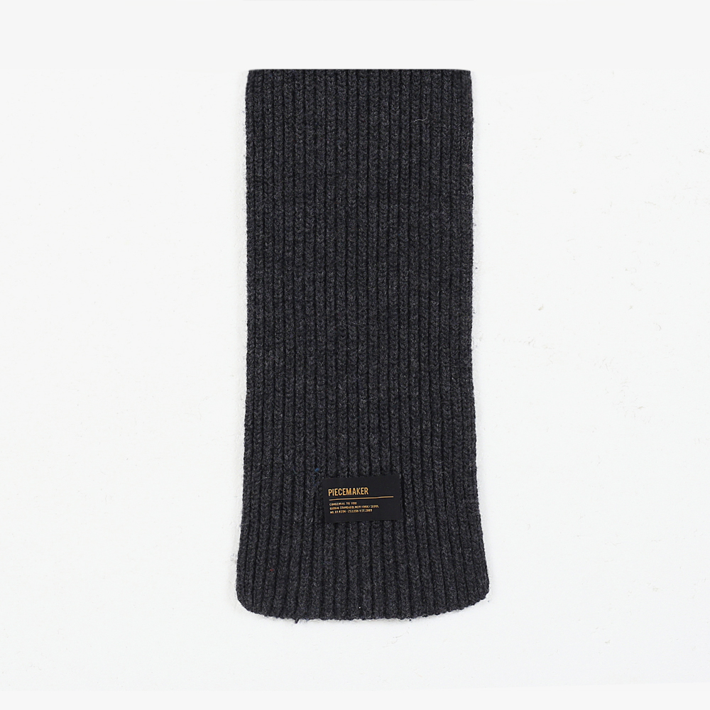 ★선물 박스★LAMBSWOOL 100 KNIT MUFFLER (CHARCOAL)