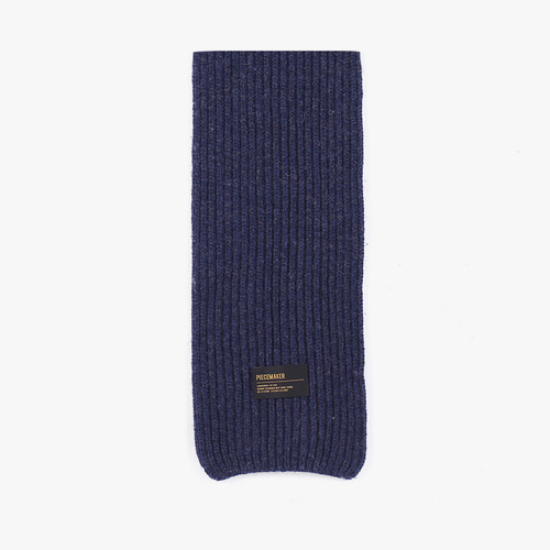 ★선물 박스★LAMBSWOOL 100 KNIT MUFFLER (NAVY)