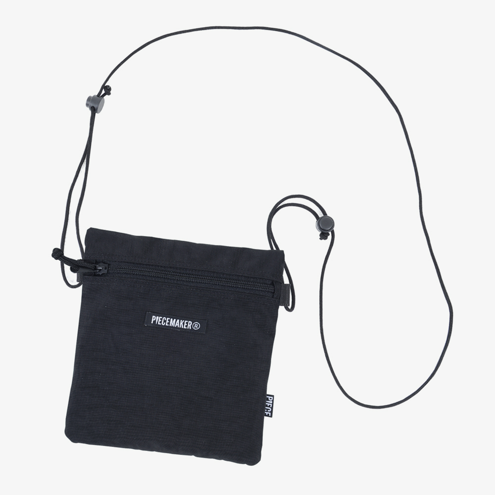 NYLON SACOCHE BAG (BLACK)