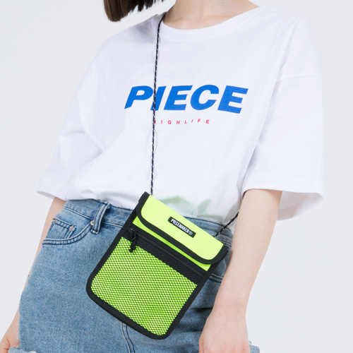 COLORS LACE MINI BAG (NEON LIME)