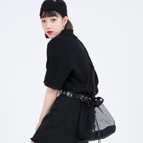 MESH BUCKET BAG (BLACK)