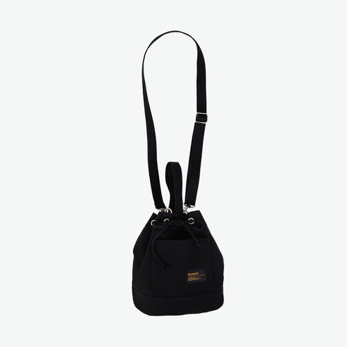 CANVAS BUCKET BAG (BLACK)