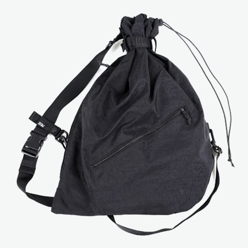 NYLON REFLECTIVE SLING BAG (BLACK)