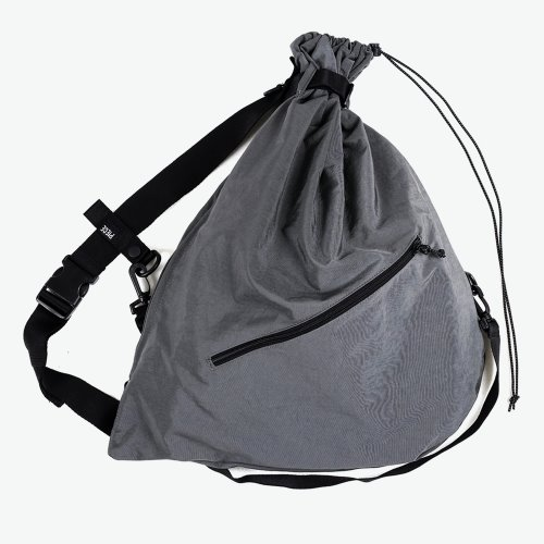 NYLON REFLECTIVE SLING BAG (CHARCOAL)