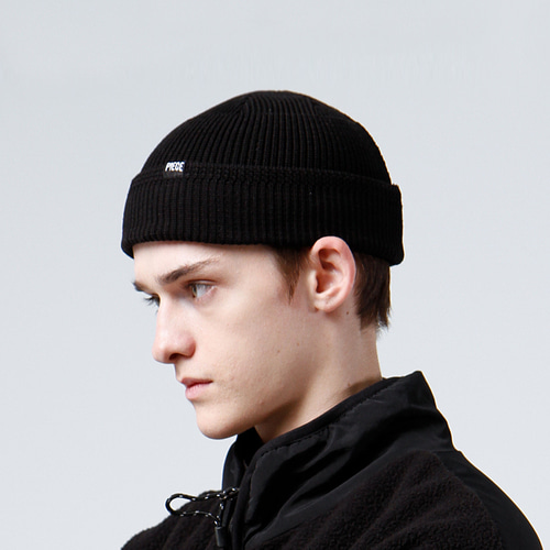 COTTON WATCH CAP F (BLACK)
