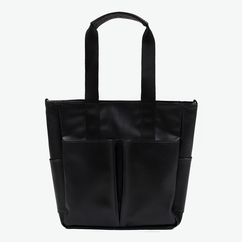 LEATHER 5POCKET CROSS&TOTE (BLACK)