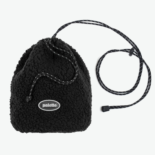BOA FLEECE BUCKET BAG (BLACK)