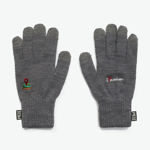 SOMEWHERE SMART GLOVES (GREY)