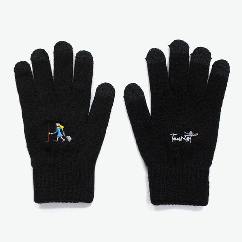 TOURIST W SMART GLOVES (BLACK)