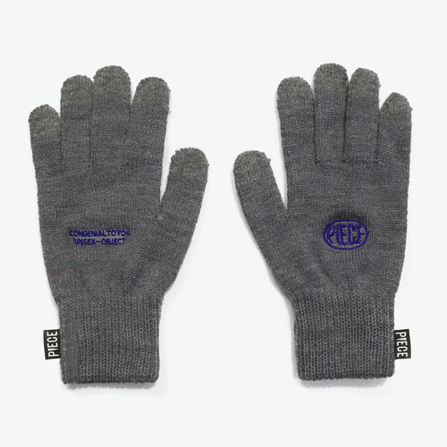 CIRCLE LOGO SMART GLOVES (GREY)