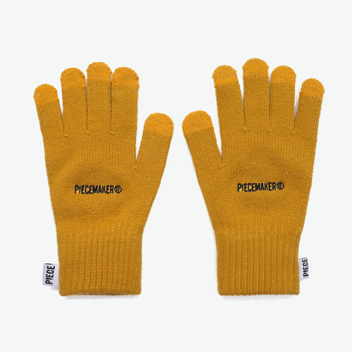 BASIC LOGO SMART GLOVES (MUSTARD)