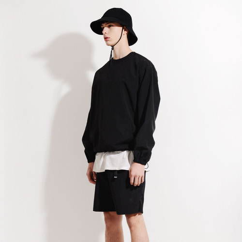 NYLON CREW SHORTS SET (BLACK)