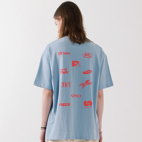 ALL LOGO TSHIRTS (SKY BLUE)