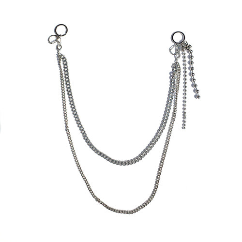 DOUBLE PANTS CHAIN (SILVER)