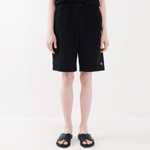 ICON SWEAT CARGO SHORTS (BLACK)