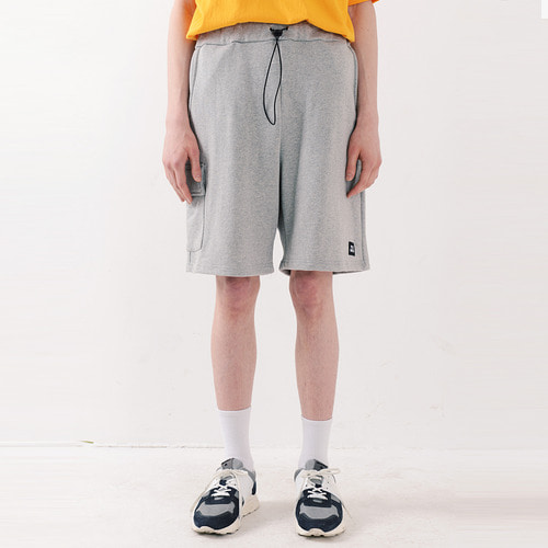 ICON SWEAT CARGO SHORTS (MELANGE GREY)