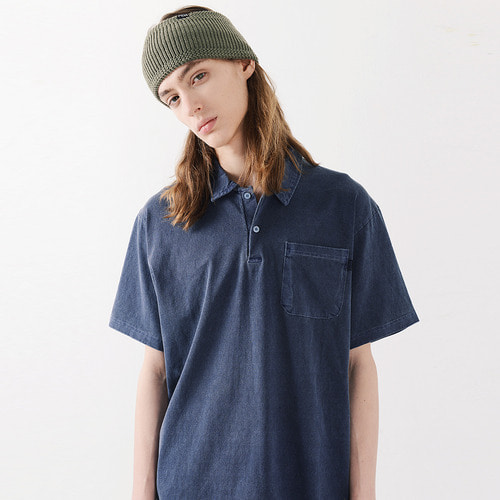 PIGMENT POCKET PK TSHIRTS (NAVY)