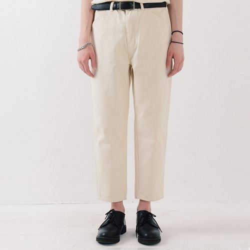 ORDINARY STRAIGHT CROP JEAN (IVORY)