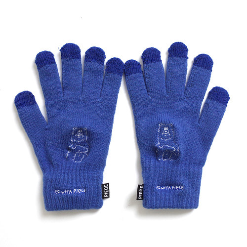 [10월 23일 예약발송][EZwithPIECE] POLAR BEAR SMART GLOVES (BLUE)