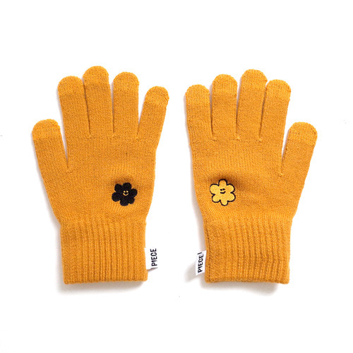 [10월 23일 예약발송][EZwithPIECE] DAISY SMART GLOVES (MUSTARD)