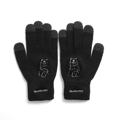 [10월 23일 예약발송][EZwithPIECE] POLAR BEAR SMART GLOVES (BLACK)
