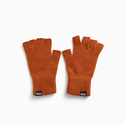 CASHMERE FINGERLESS GLOVES (BROWN)