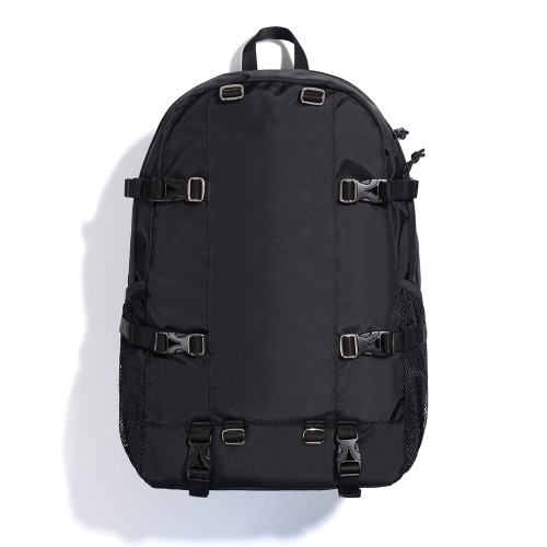 NYLON ADJUST BACKPACK (BLACK)