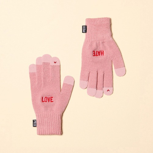 [착한장갑] LOVE HATE SMART GLOVE (PINK)