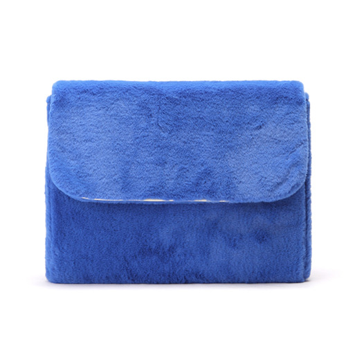 MACARON FUR CLUTCH (ROYAL BLUE)