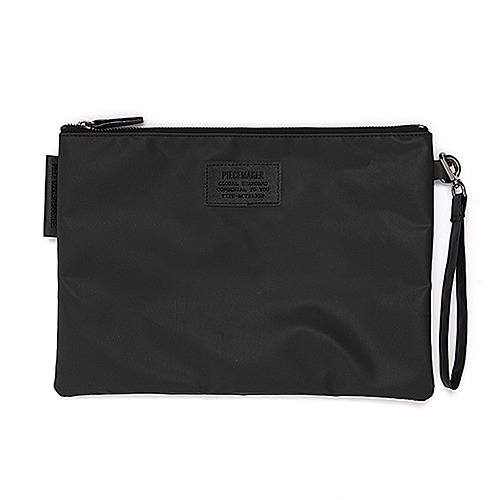 GORGEOUS LUX CLUTCH (COATED BLACK)