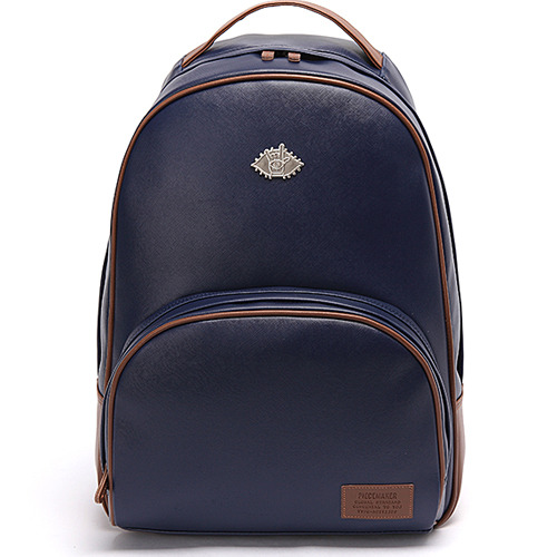 LUNA LEATHER BACKPACK (NAVY)