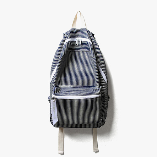 ALICE STRIPE DAY PACK (NAVY&WHITE)