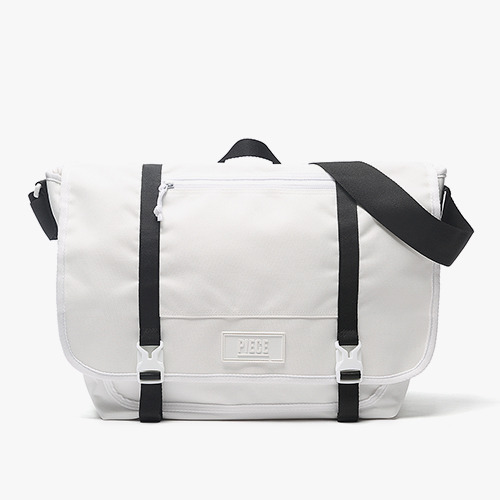 [착한가방] PIECE CORDURA MESSENGER BAG (WHITE/BLACK)